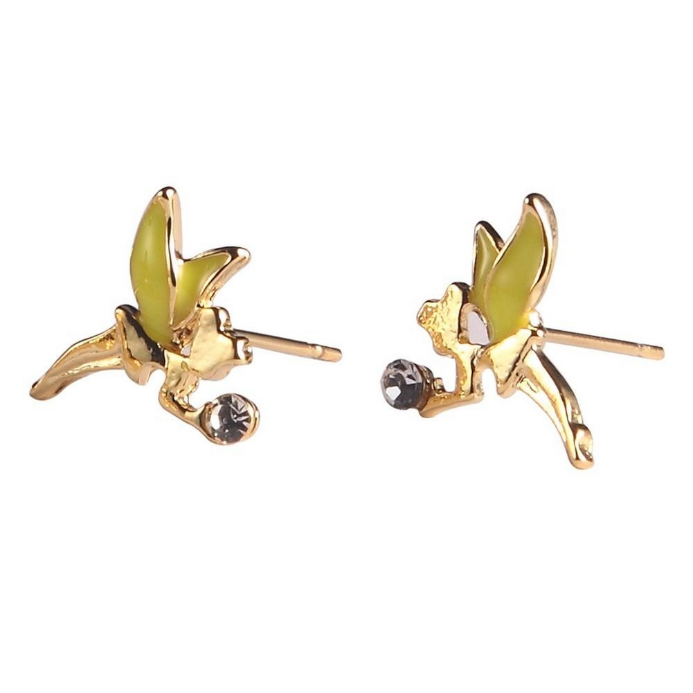 Stud Earring Tinkerbell Made With Enamel & Tin Alloy by JOE COOL