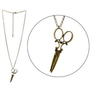 Necklace With A Pendant Scissors Made With Zinc Alloy by JOE COOL
