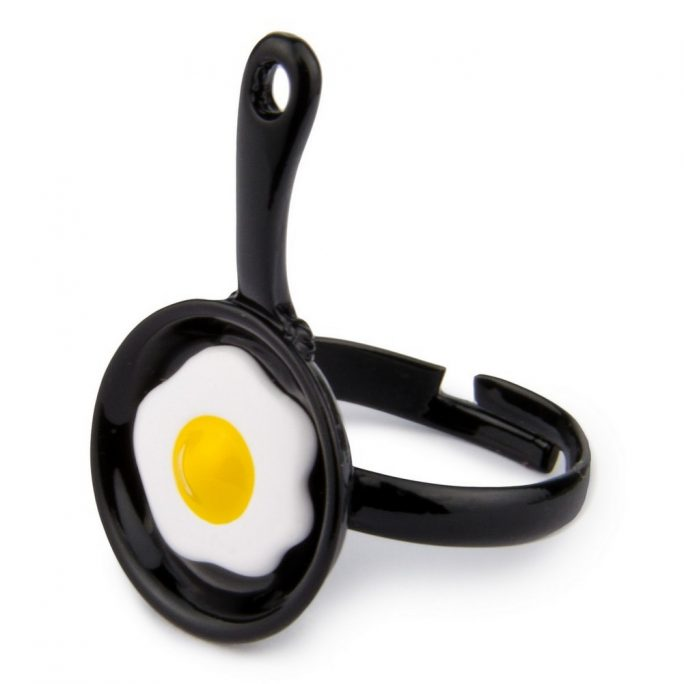 Ring Egg In A Frying Pan Made With Enamel by JOE COOL