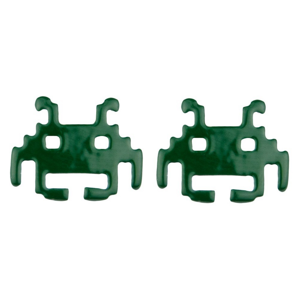Stud Earring Space Invader Made With Enamel by JOE COOL
