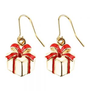 Drop Earring Christmas Gift Box Made With Crystal Glass & Enamel by JOE COOL