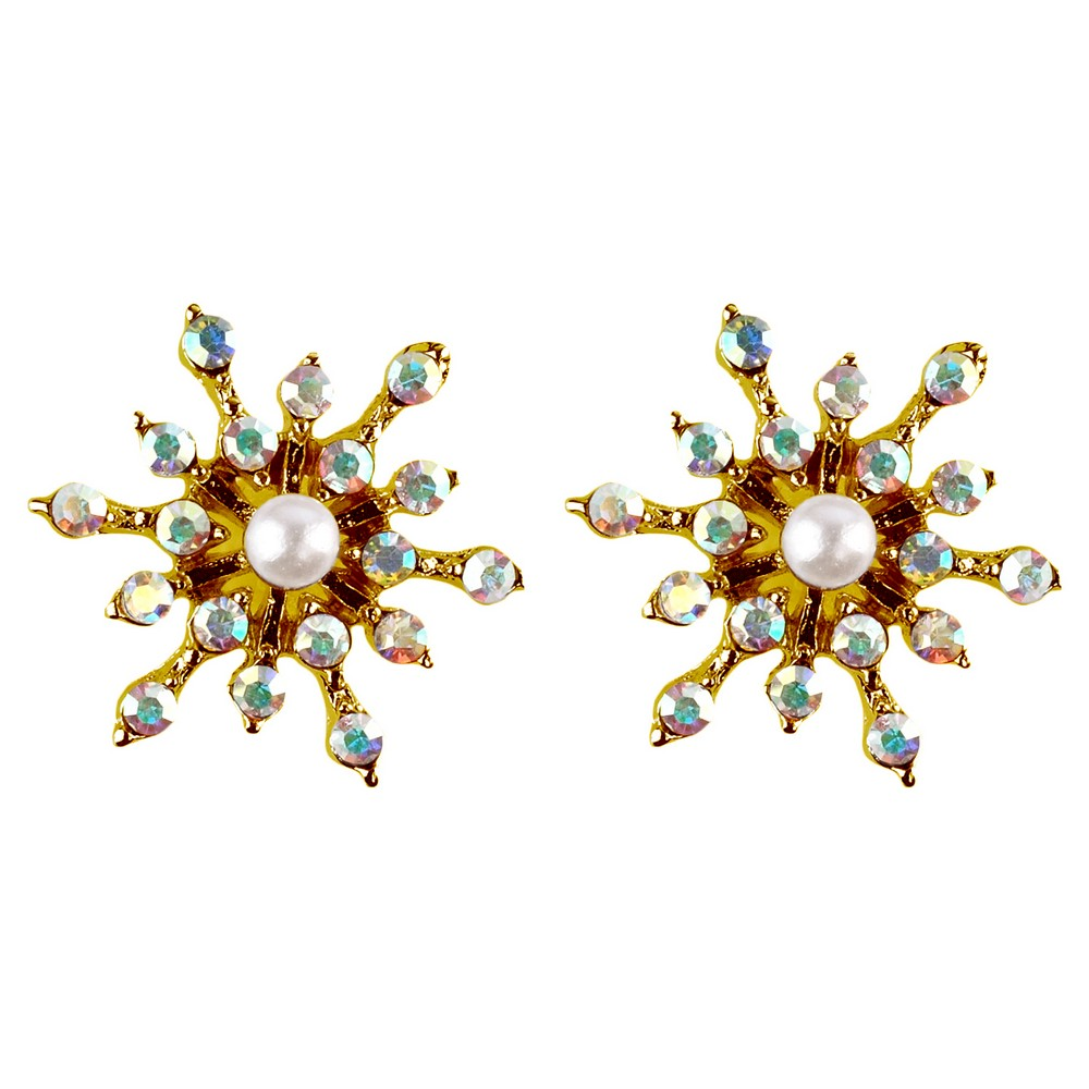 Stud Earring Christmas Snowflakes Made With Crystal Glass & Zinc Alloy by JOE COOL