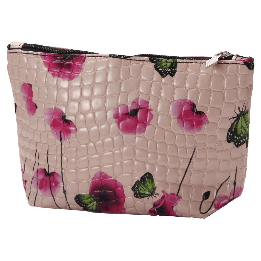 Cosmetic Bag Poppy Made With Pu & Iron by JOE COOL