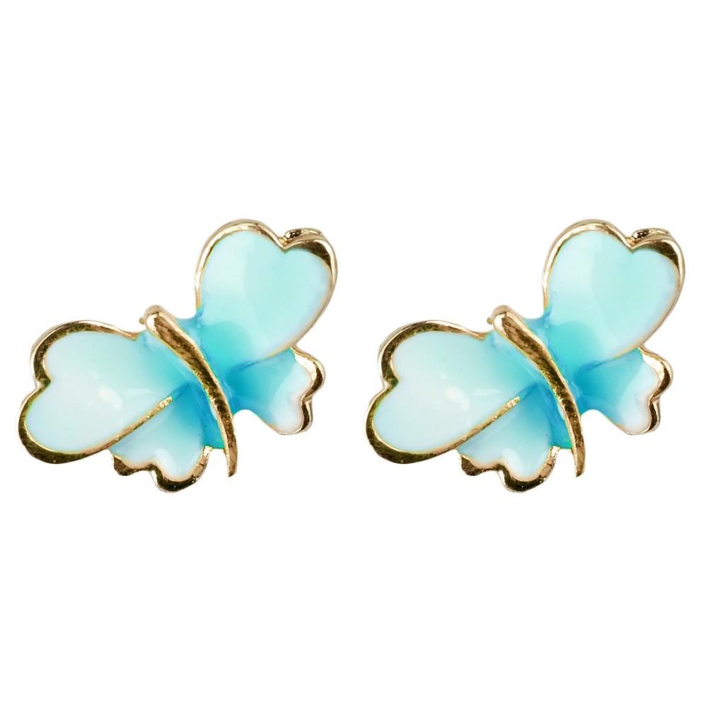 Stud Earring Butterfly Made With Enamel by JOE COOL
