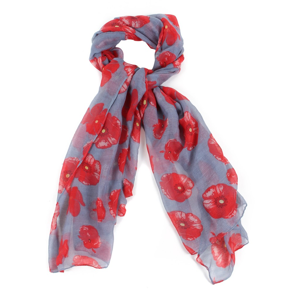 Scarf Poppy Light Made With Polyester by JOE COOL
