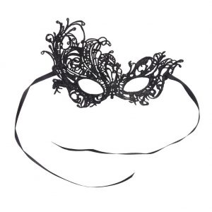 Gift Scrolled Side Masquerade Mask Made With Polyester by JOE COOL
