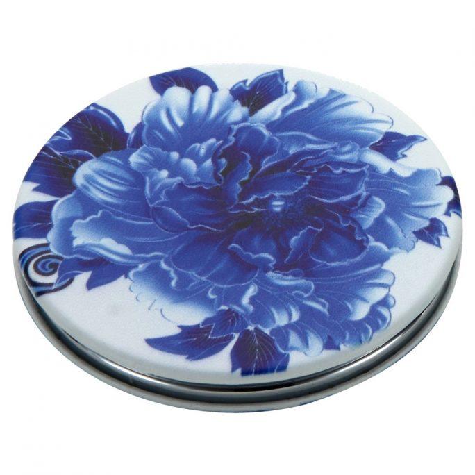 Compact Mirror Tea Garden Flowers Made With Pu by JOE COOL