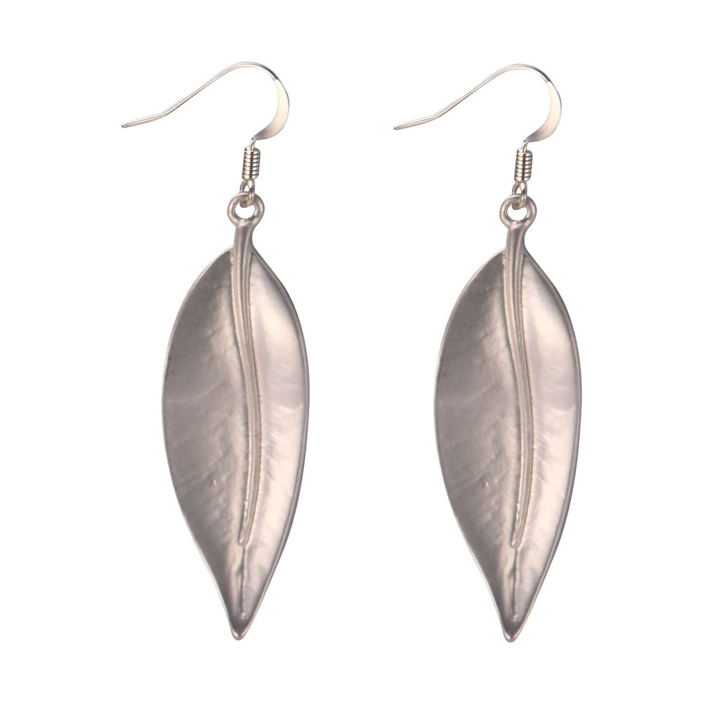 Drop Earring Autumn Leaf  Smooth Made With Tin Alloy by JOE COOL