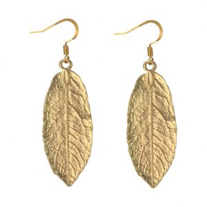 Drop Earring Autumn Leaf Detailed Made With Tin Alloy by JOE COOL
