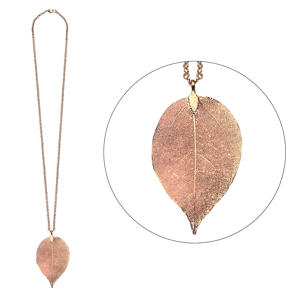 Necklace Delicate Leaf Made With Iron by JOE COOL
