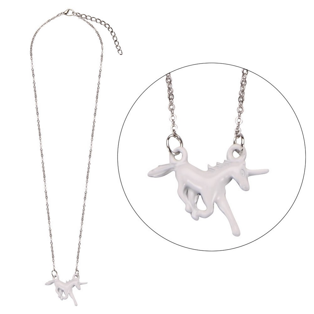 Necklace With A Pendant Unicorn Made With Zinc Alloy & Copper by JOE COOL