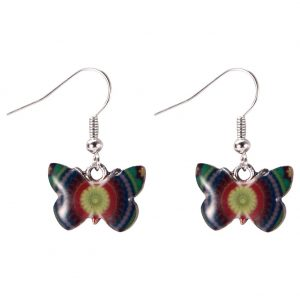 Drop Earring Flutter By Butterfly Concentric Pattern Made With Zinc Alloy & Iron by JOE COOL