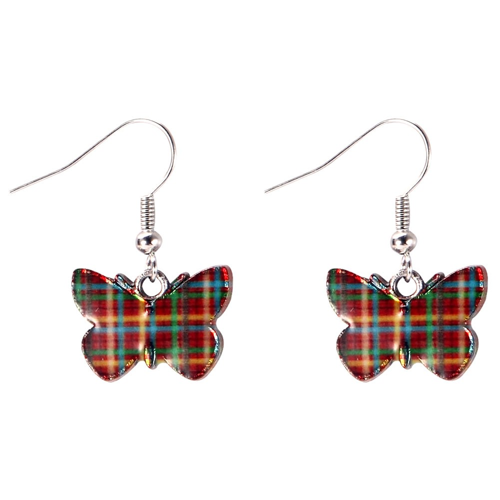 Drop Earring Flutter By Butterfly Tartan Made With Zinc Alloy & Iron by JOE COOL