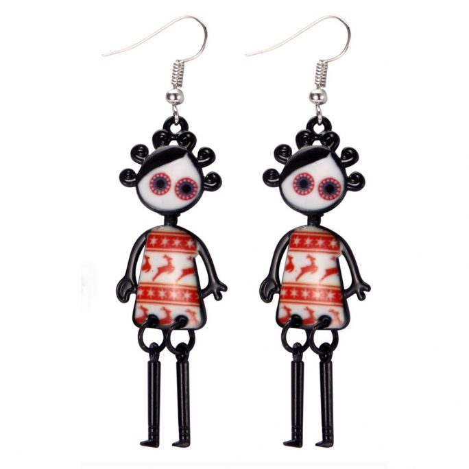 Drop Earring Dolly Dancing Made With Tin Alloy by JOE COOL