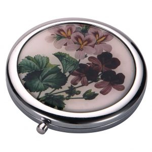 Compact Mirror Flora Botanica Purple Blossom Made With Tin Alloy by JOE COOL