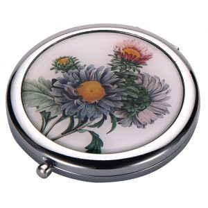 Compact Mirror Flora Botanica Aster Made With Tin Alloy by JOE COOL
