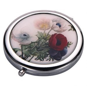 Compact Mirror Flora Botanica Peony Made With Tin Alloy by JOE COOL