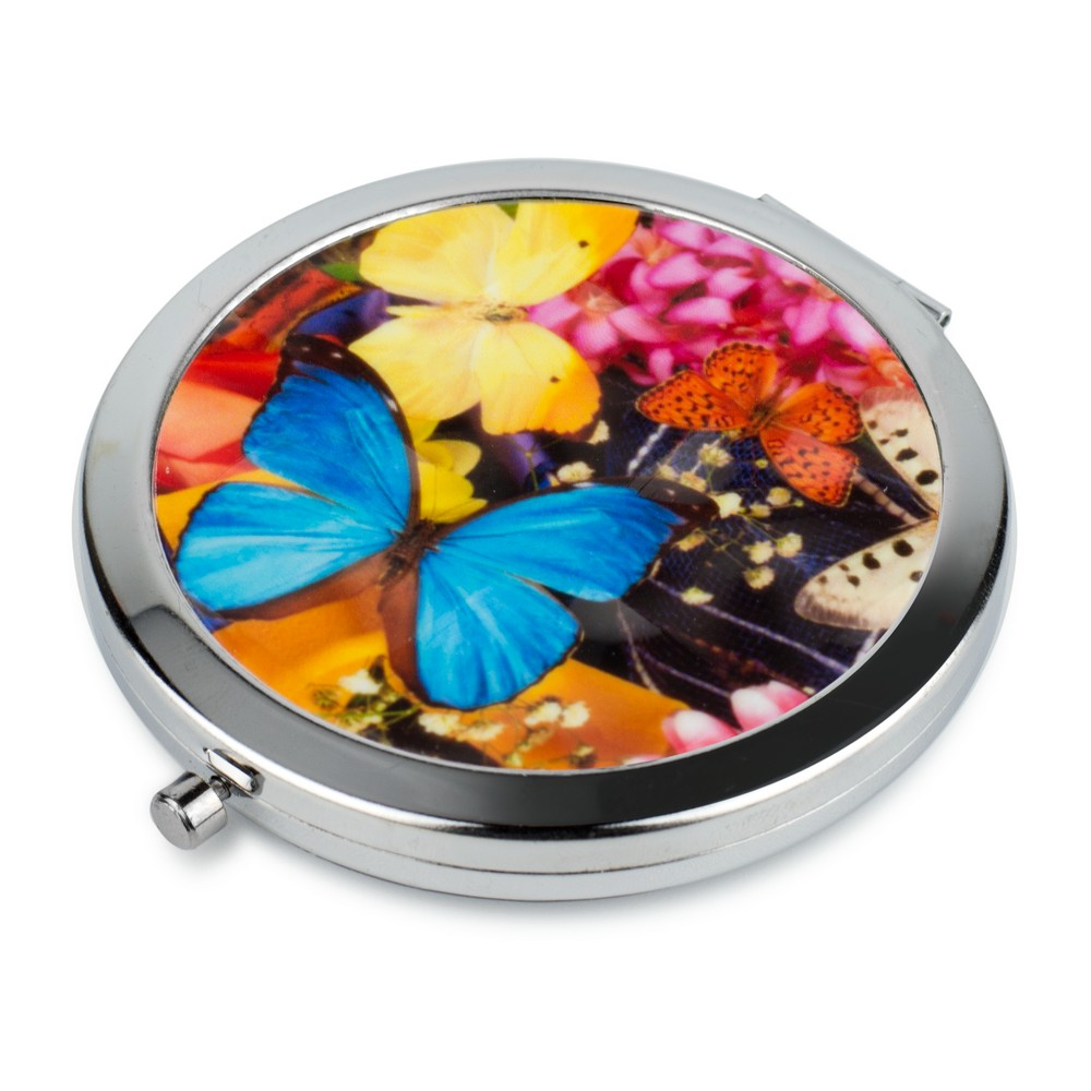 Compact Mirror Bright Butterfly Made With Tin Alloy by JOE COOL