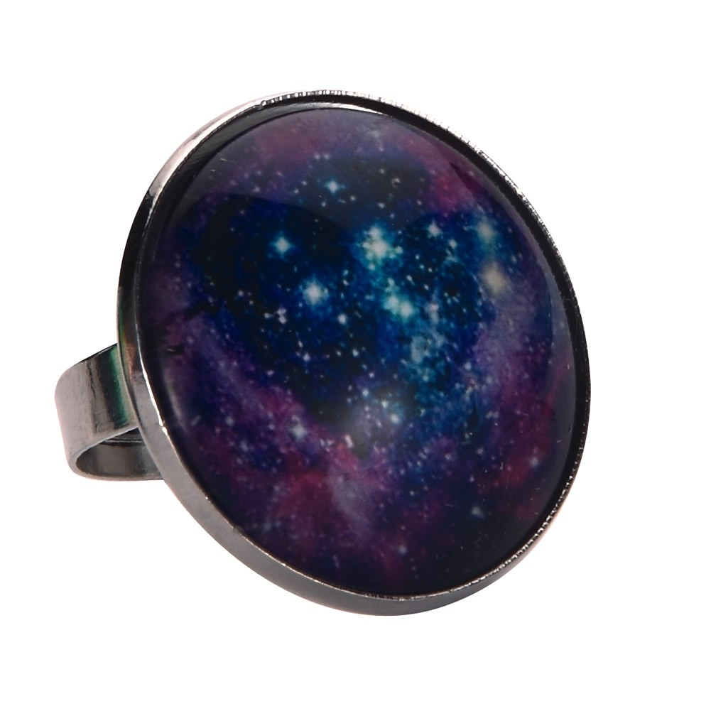 Ring Universe Twinkle Made With Tin Alloy & Glass by JOE COOL