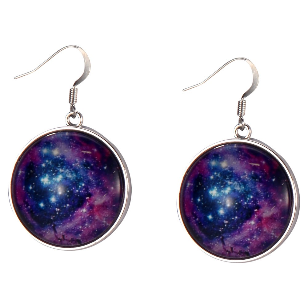 Drop Earring Universe Twinkle Made With Tin Alloy & Glass by JOE COOL