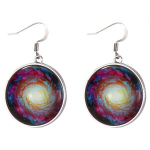 Drop Earring Universe Swirl Made With Tin Alloy & Glass by JOE COOL