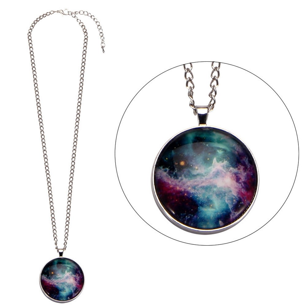 Necklace Universe Speckle Made With Glass & Tin Alloy by JOE COOL