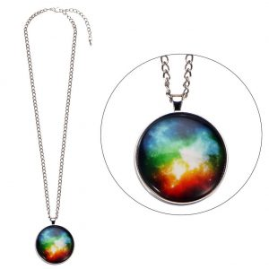 Necklace Universe Burst Made With Glass & Tin Alloy by JOE COOL