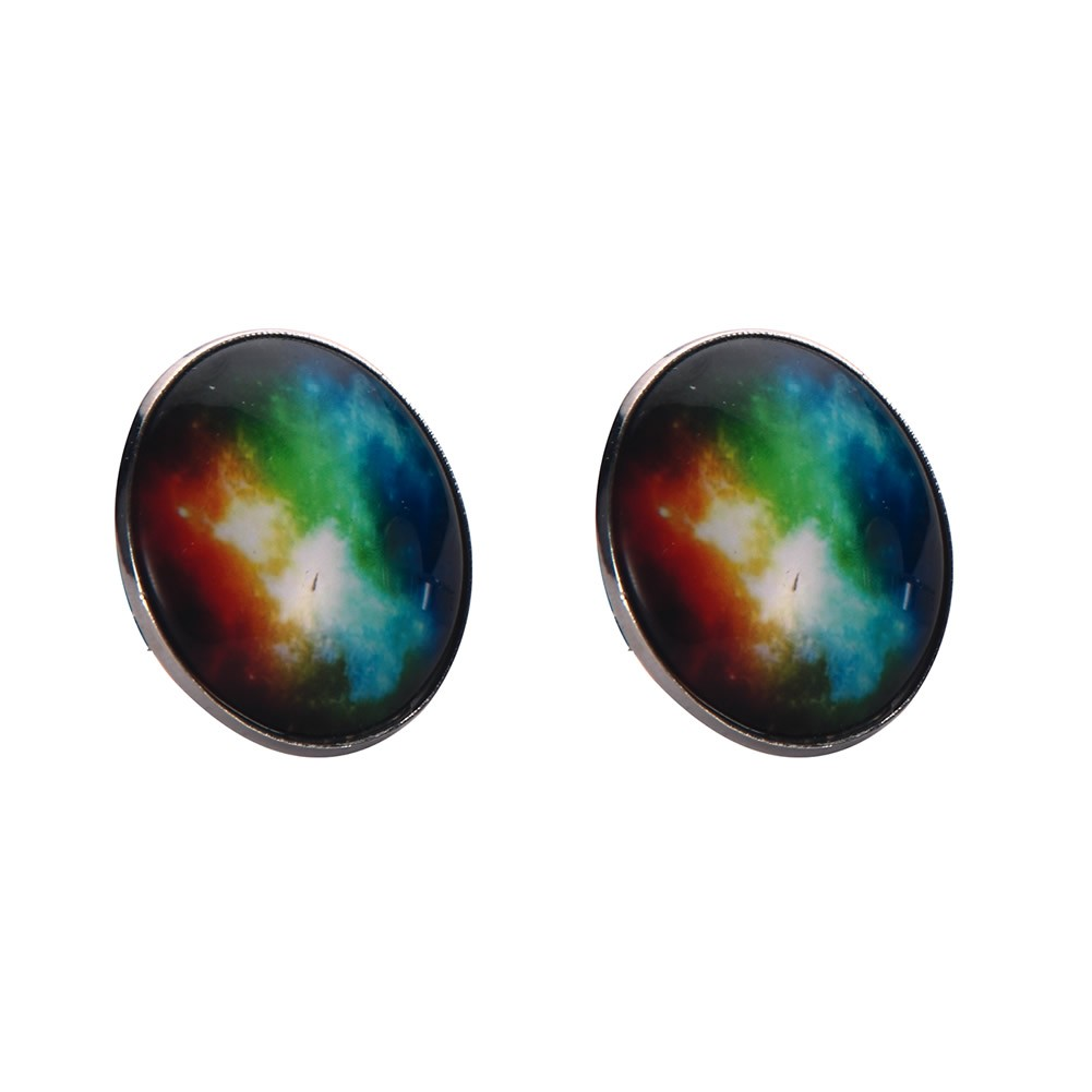 Stud Earring Universe Burst Made With Tin Alloy & Glass by JOE COOL