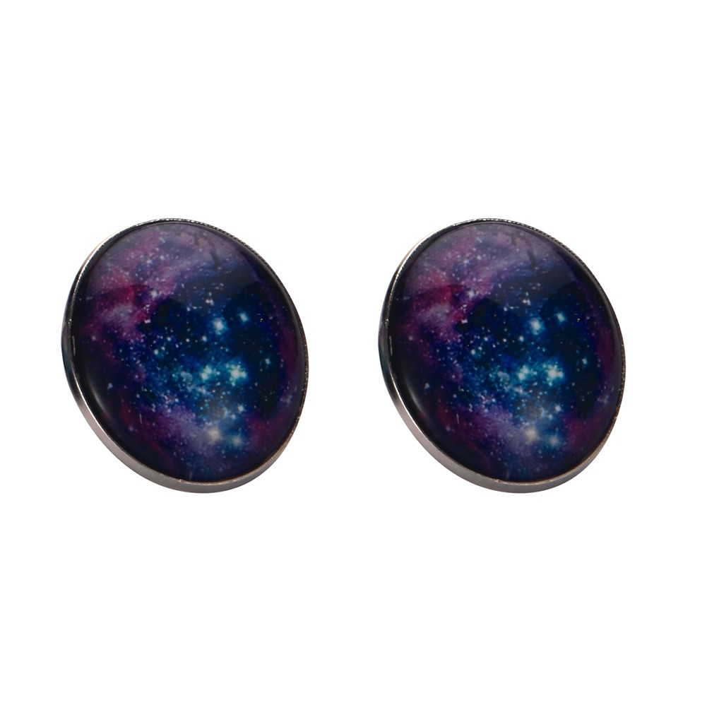 Stud Earring Universe Speckle Made With Tin Alloy & Glass by JOE COOL