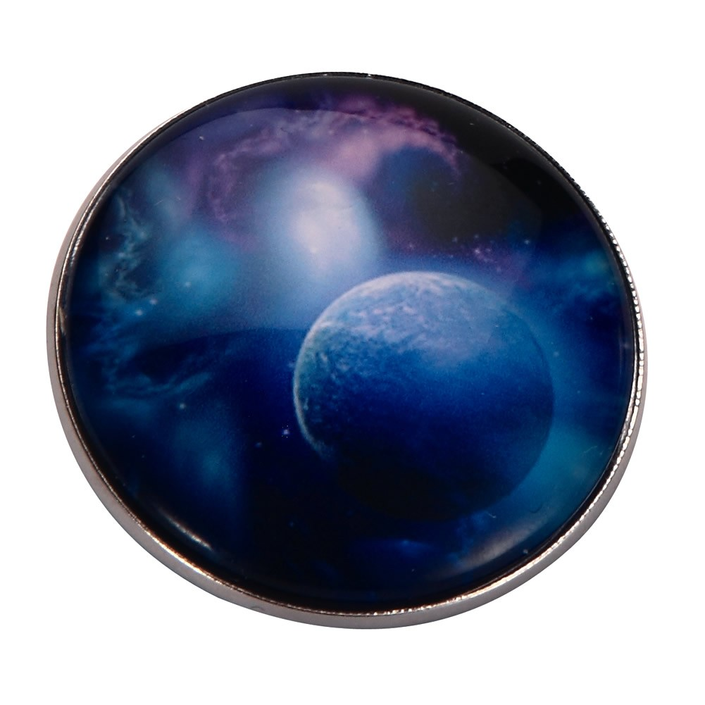 Brooch Universe Moon Made With Tin Alloy & Glass by JOE COOL