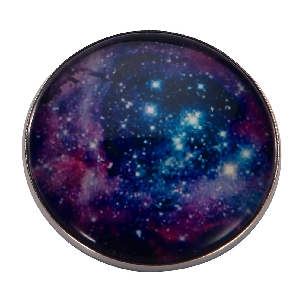 Brooch Universe Speckle Made With Tin Alloy & Glass by JOE COOL