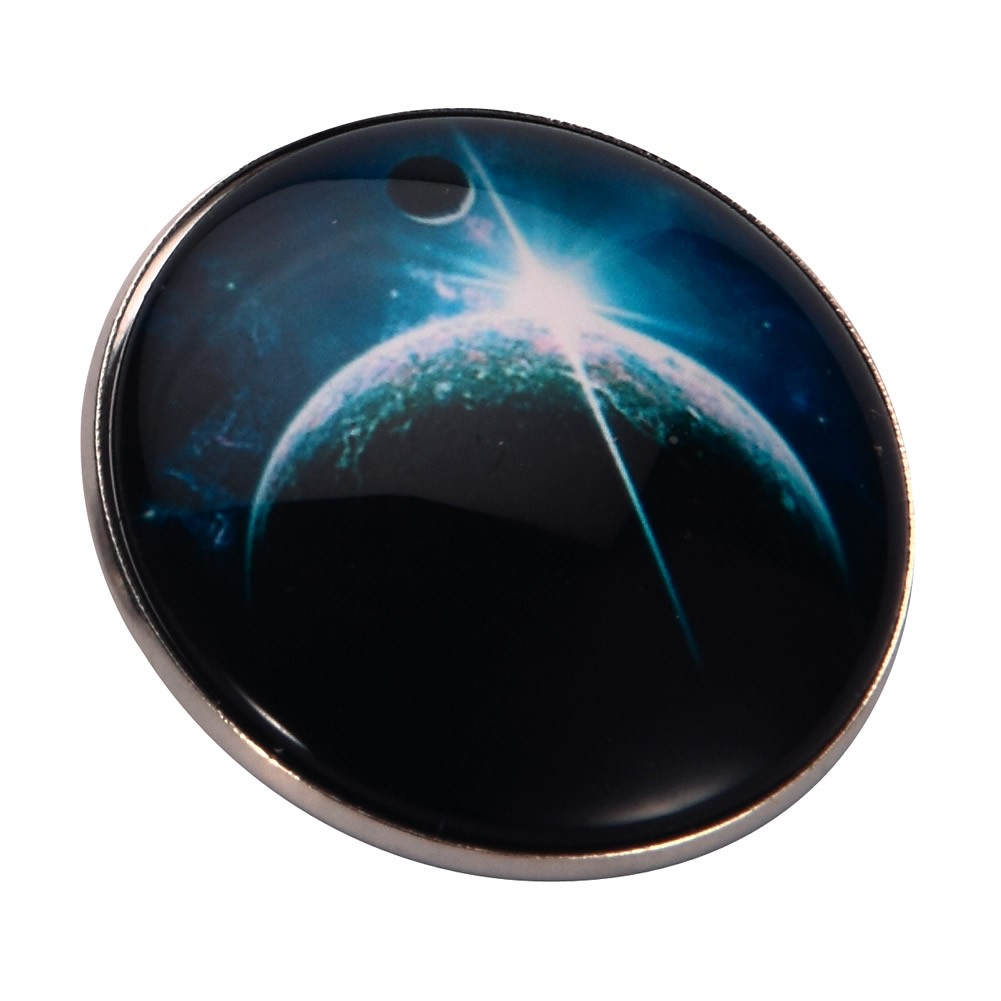 Brooch Universe Large Moon Made With Tin Alloy & Glass by JOE COOL