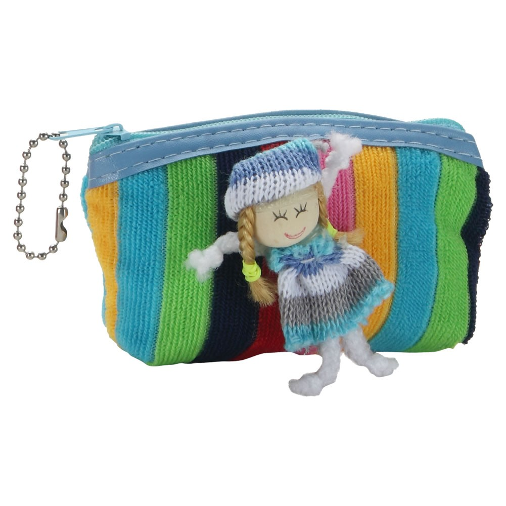 Coin Purse Dolly Rainbow Made With Polyester & Iron by JOE COOL