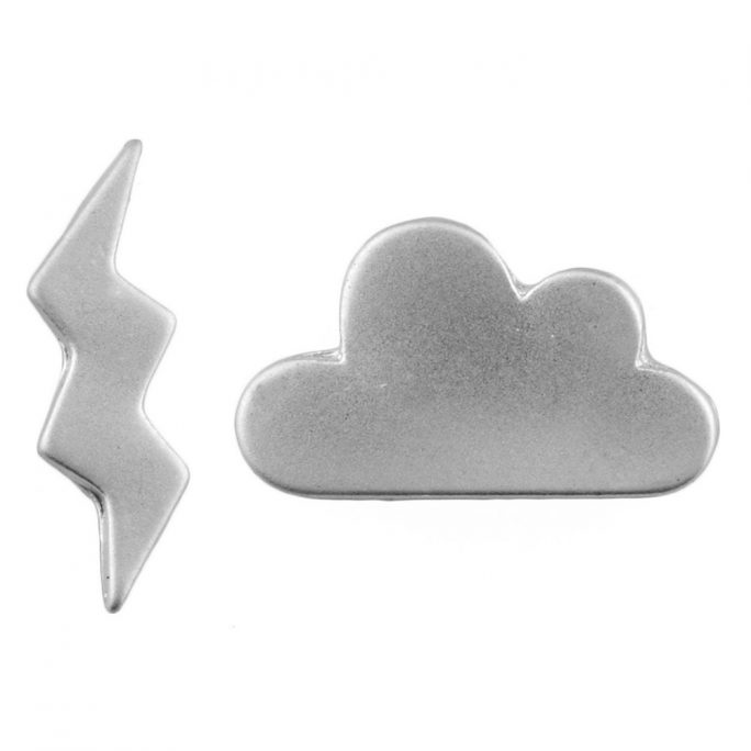 Stud Earring Weather Report Made With Tin Alloy by JOE COOL