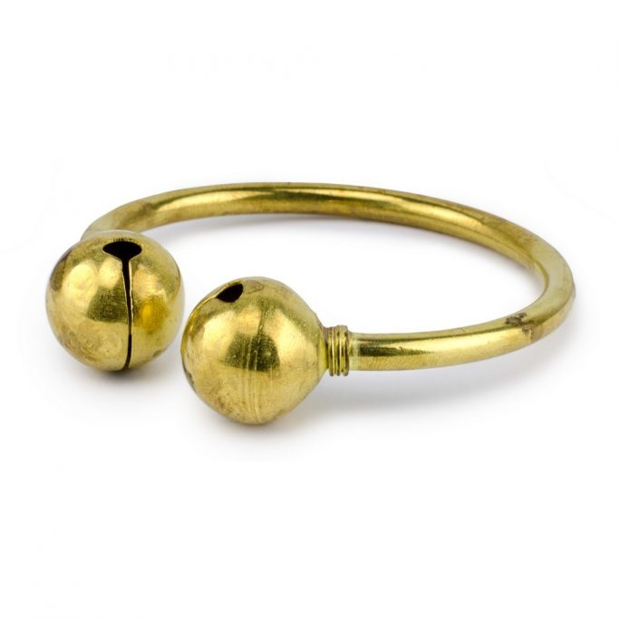 Bangle Double Bell Made With Brass by JOE COOL