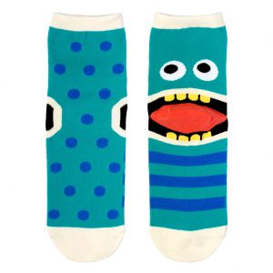 Socks Heel Monster Face Made With Cotton & Spandex by JOE COOL