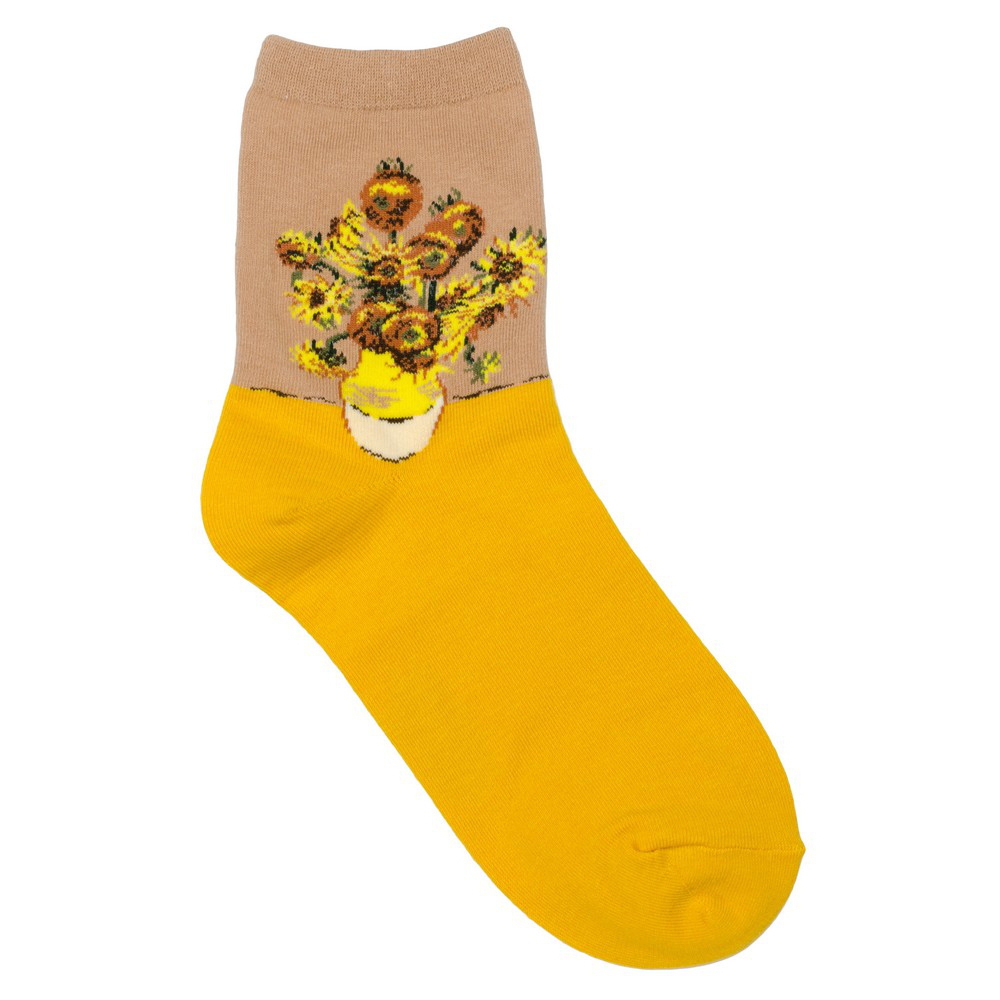 Socks Van Gogh Sunflowers Made With Cotton & Spandex by JOE COOL