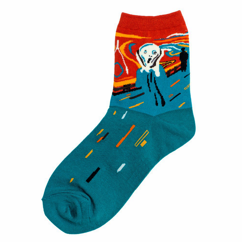 Socks Munch The Scream Made With Cotton & Spandex by JOE COOL