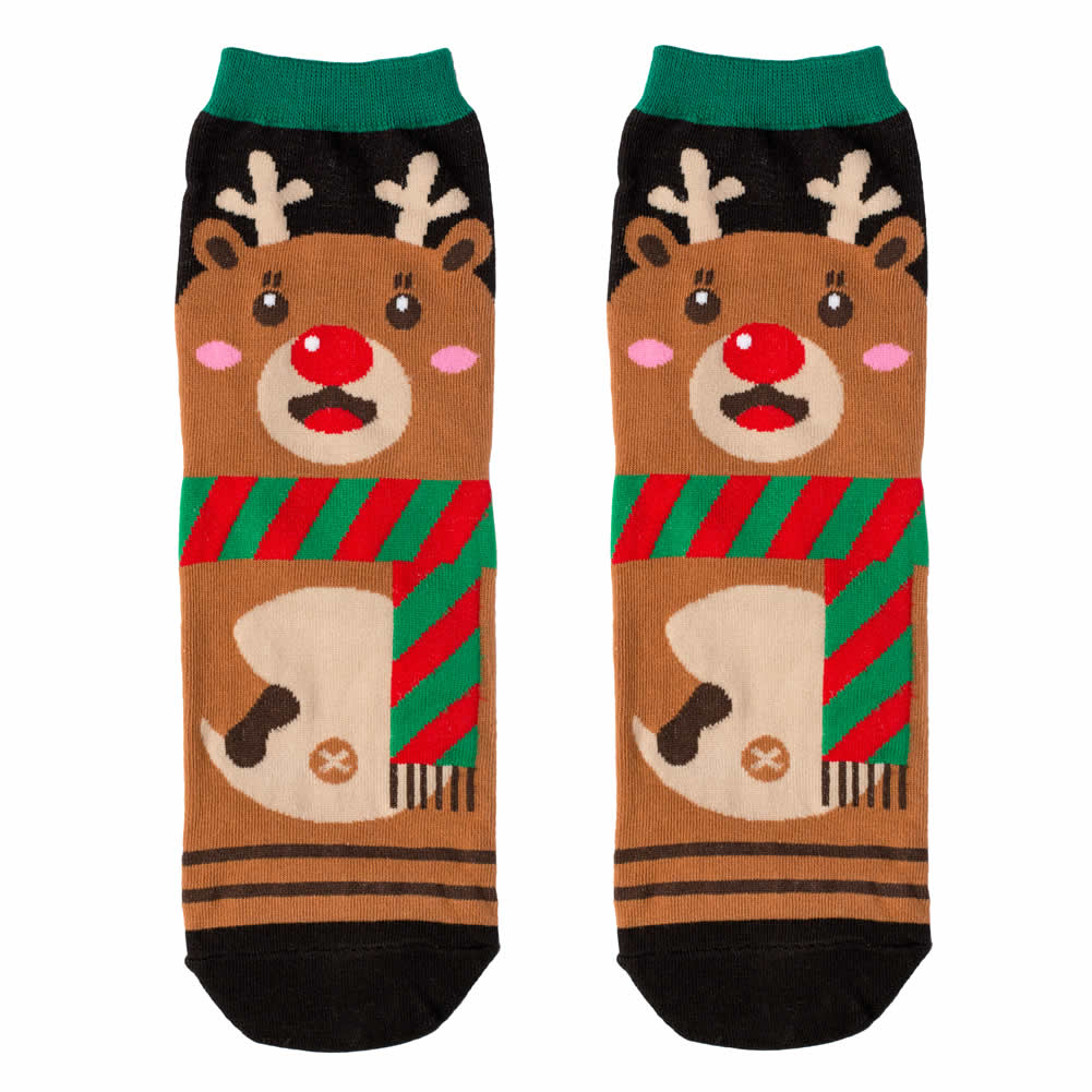 Socks Cute Reindeer Made With Cotton & Spandex by JOE COOL