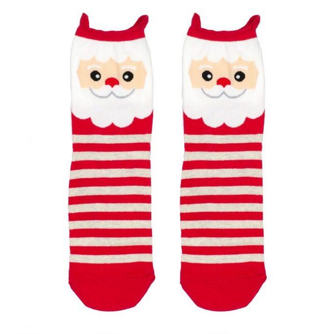 Socks Stripey Santa Made With Cotton & Spandex by JOE COOL