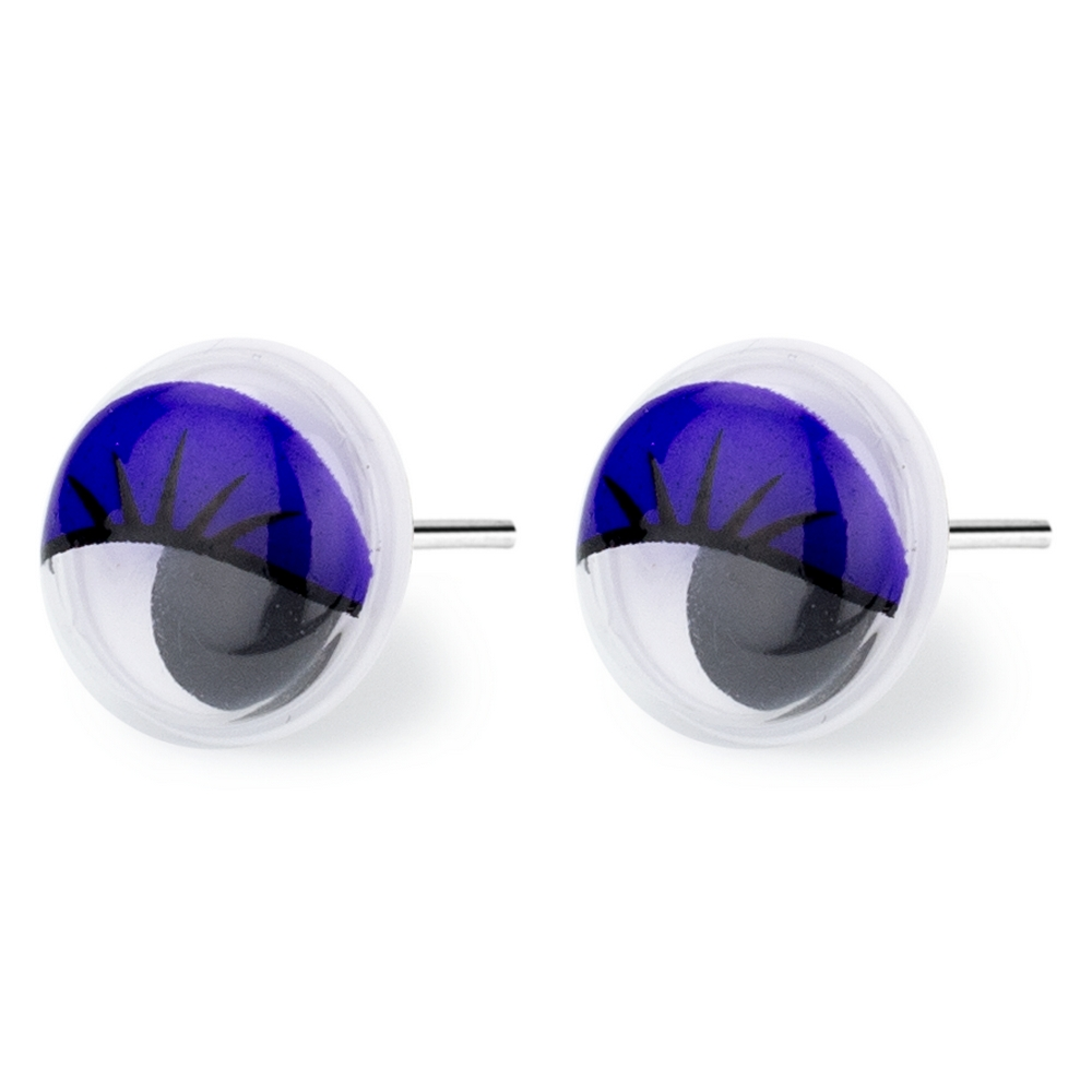 Stud Earring Googly Eyes Made With Resin by JOE COOL