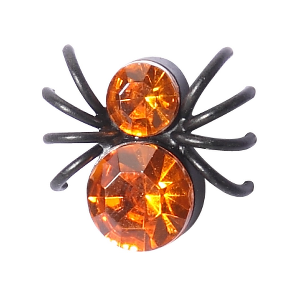 Clutch Pin Brooch Spooky Spider Made With Acrylic & Iron by JOE COOL