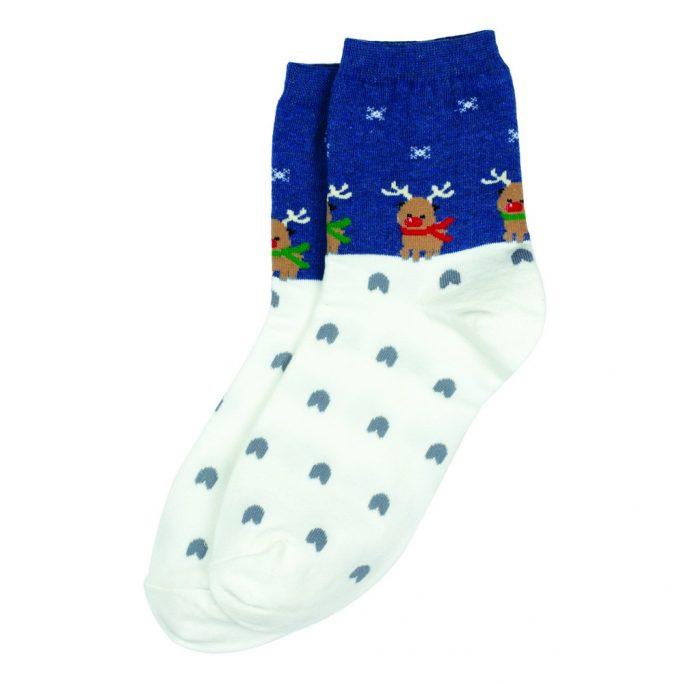 Socks Cute Reindeer Made With Cotton & Spandex by JOE COOL