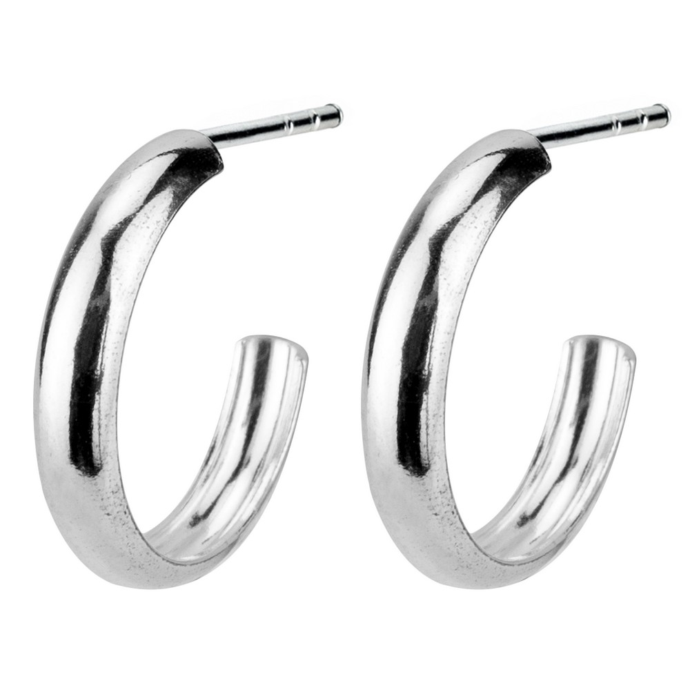 Hoop Earring 3mm Thick - 16mm Made With 925 Silver by JOE COOL