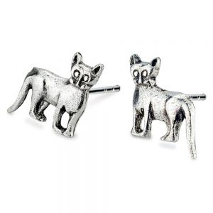 Stud Earring Killer Cat Made With 925 Silver by JOE COOL