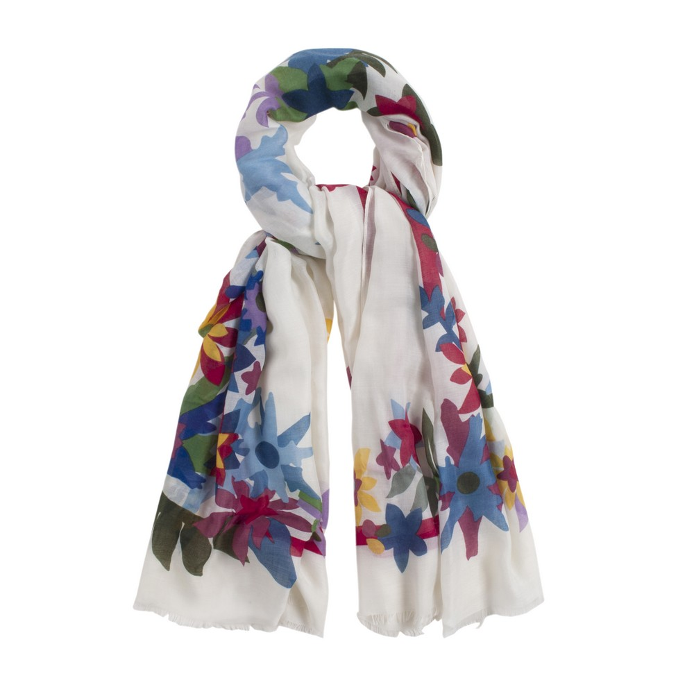 Scarf Flower Colour Cut Print Made With Polyester by JOE COOL