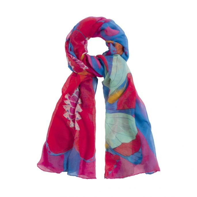 Scarf Tropical Flower Made With Polyester by JOE COOL