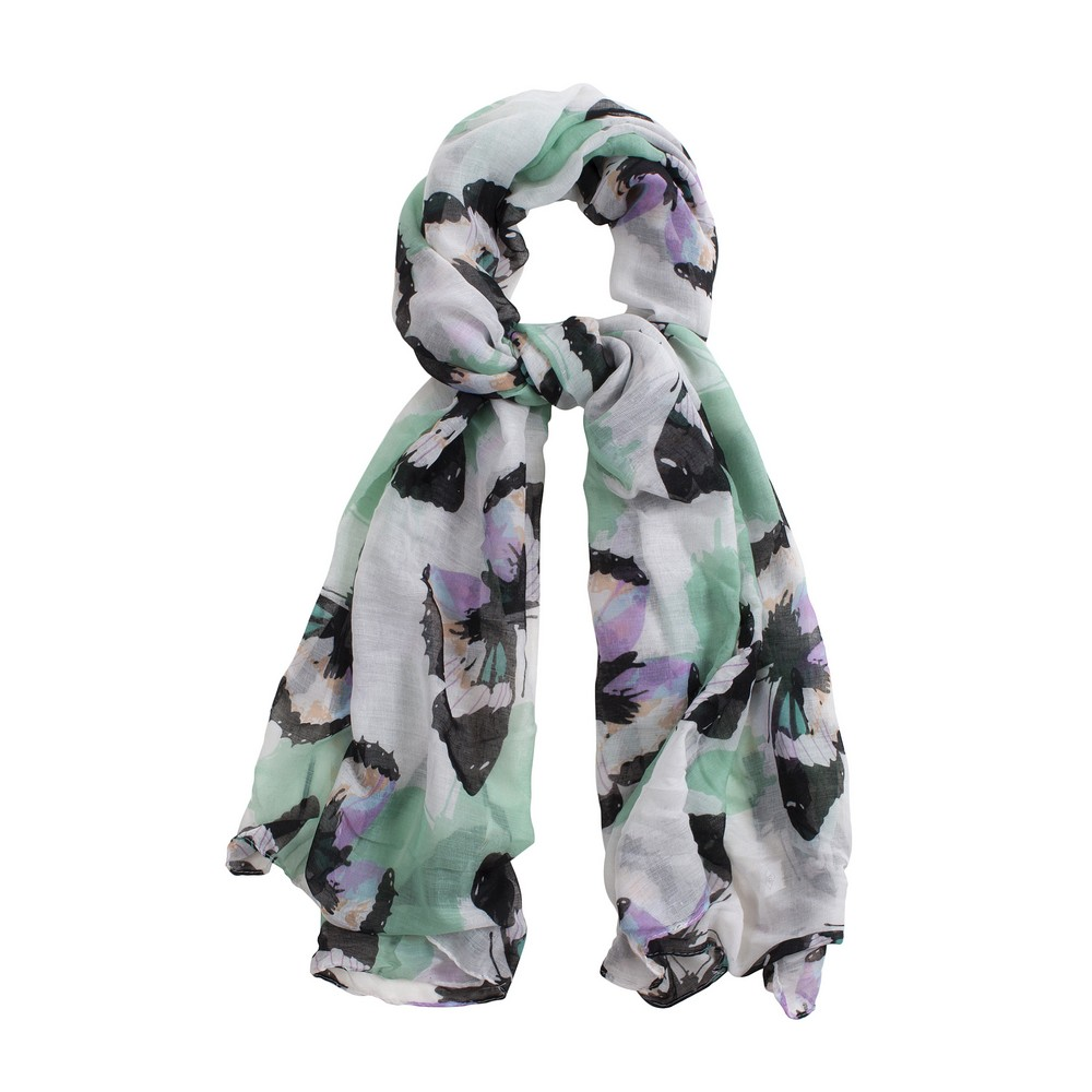 Scarf Poetic Butterfly Made With Viscose by JOE COOL