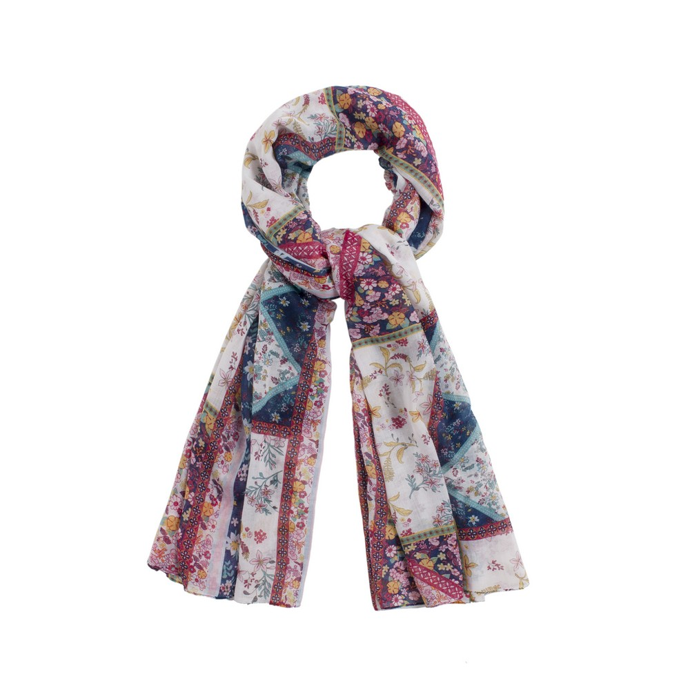 Scarf Floral Sprigged Patchwork Print Made With Polyester by JOE COOL