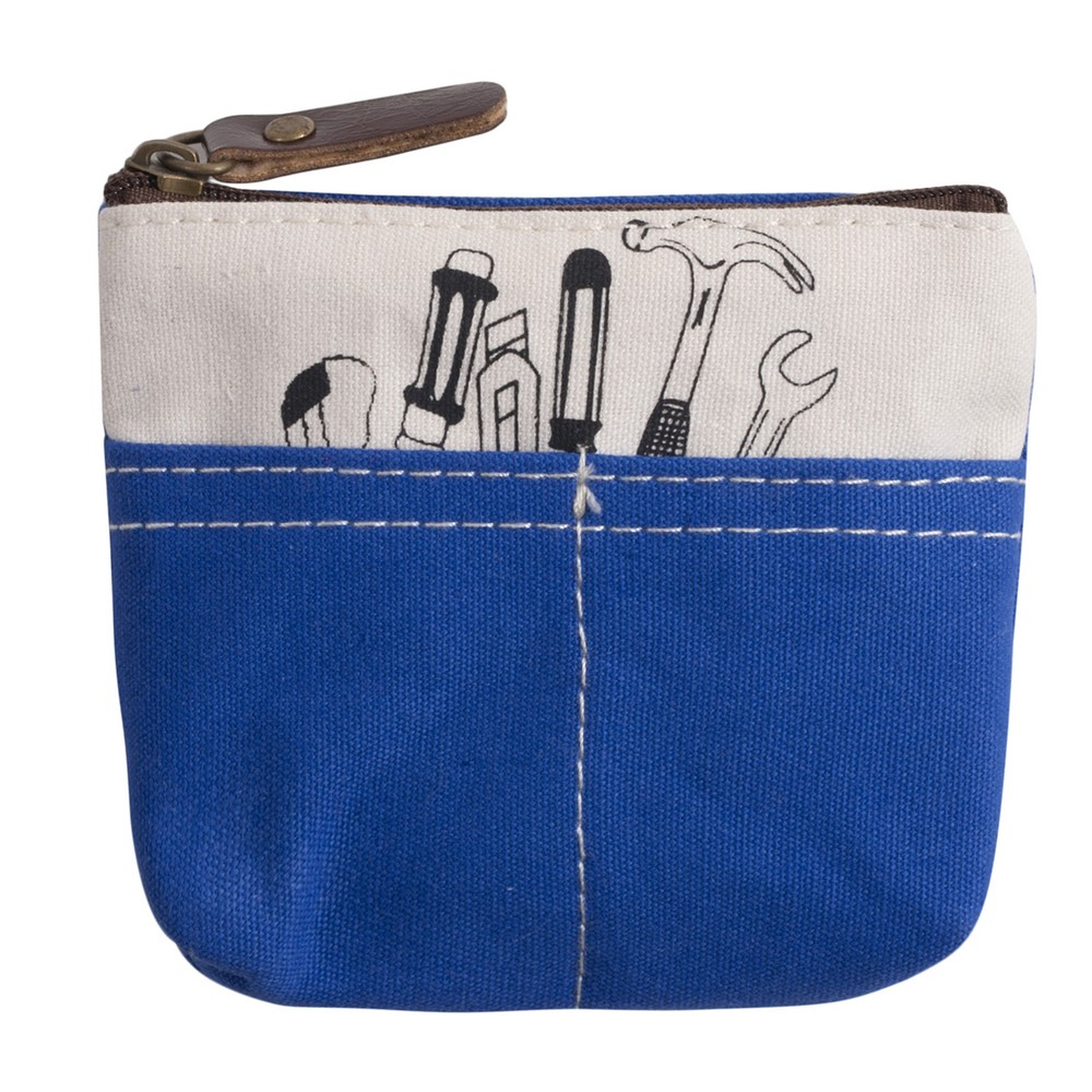 Coin Purse Tool Kit Print Tool Box Made With Cotton by JOE COOL